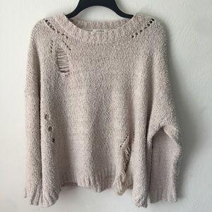 Umgee Oversized Destroyed Sweater